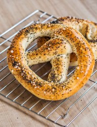 Make your own soft pretzel from the comfort of your home using a simple pizza dough recipe