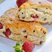 Chocolate and Strawberry Scones