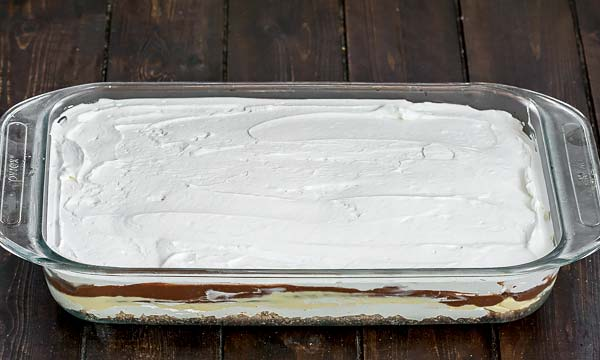 Fifth layer of whipped cream for sex in a pan recipe