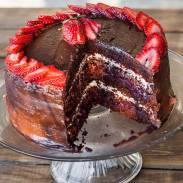Berries and Chocolate Cake