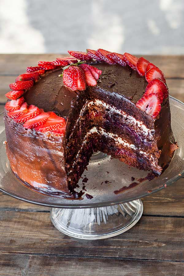 Delicious cake with three layers of total indulgence