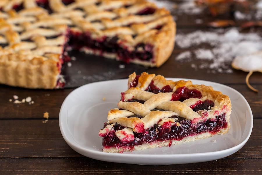 плитки мягкий пирог с вареньем вишневый лущеный