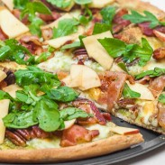 Arugula and Apple Pizza