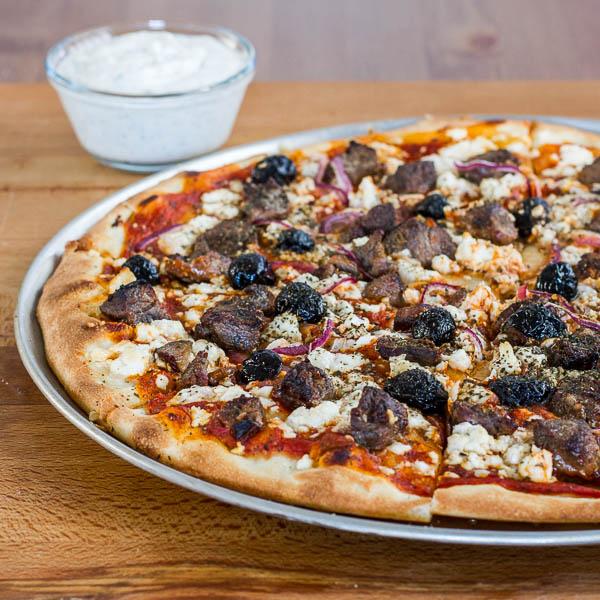 Lamb Souvlaki Pizza