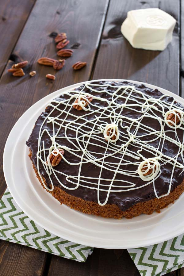 Gorgeous and delicious chocolate pecan cake