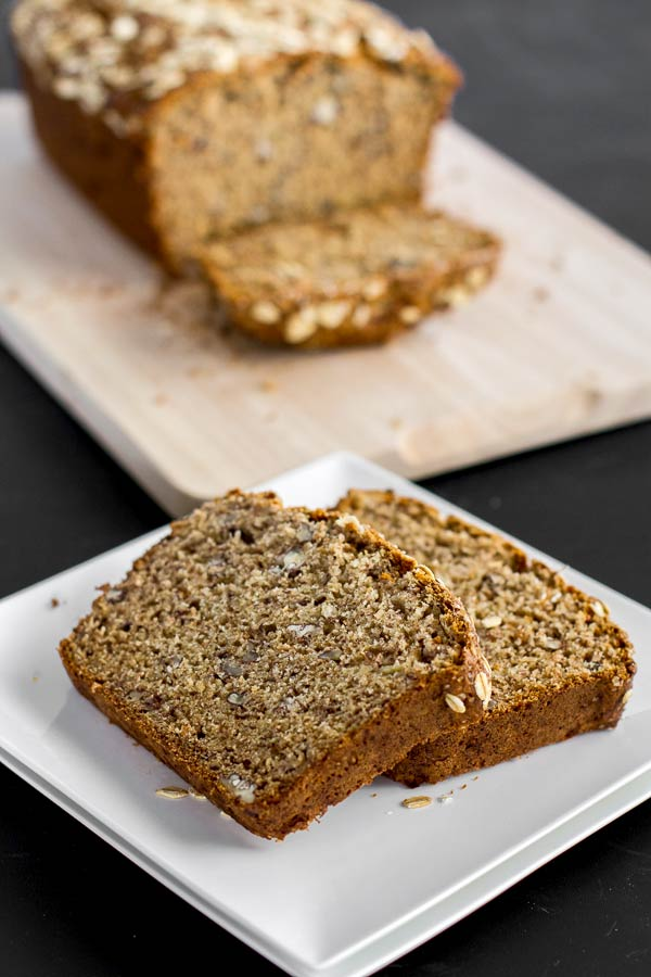 Banana bread with whole wheat for a healthy breakfast