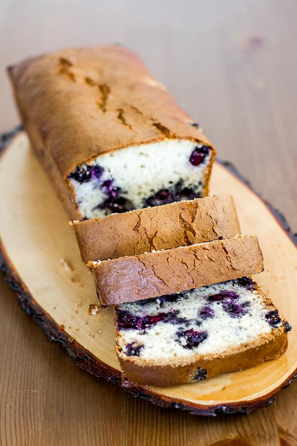 How to make a blueberry bread from a muffin recipe