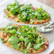 Pear and Arugula Pizza