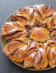 Delicious pull apart bread loaded with chocolate