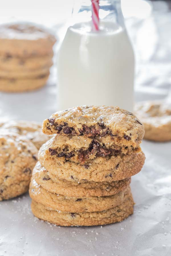 Your regular cookies recipe with a twist, filled with caramel and sprinkled with sea salt